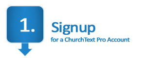 Signup for mass text messaging